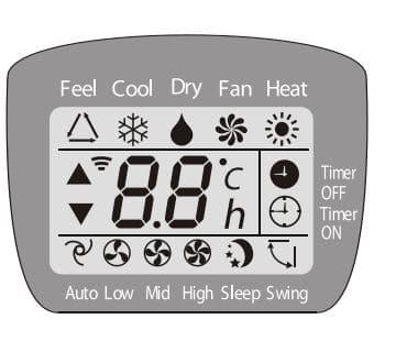 Air Conditioner Remote Control Symbols