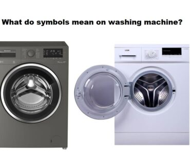 What do symbols mean on washing machine