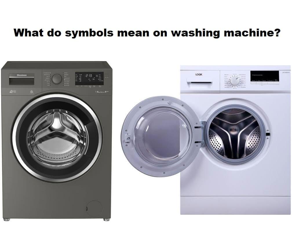 What do symbols mean on washing machine