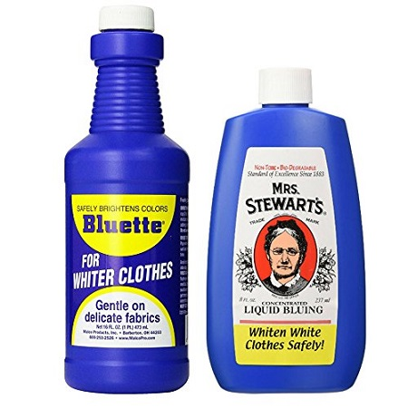 Add bluing agent to your laundry
