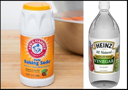Remove odour with vinegar and baking soda