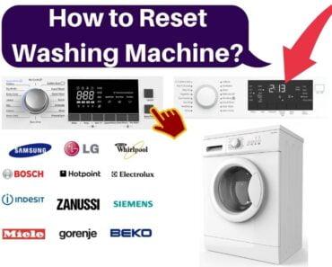 How to Reset Washing Machine