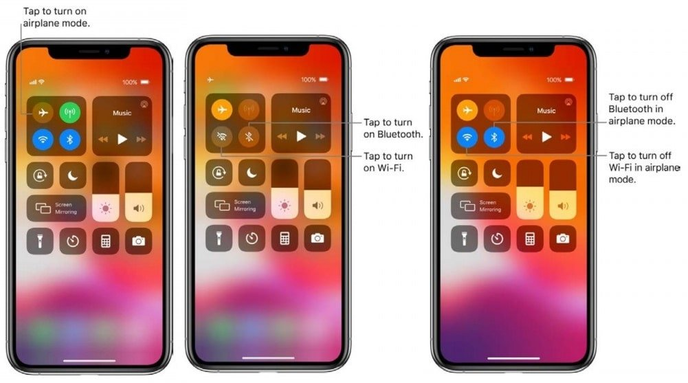 What are the icons on top right of iphone?